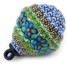 4-inch Stoneware Ornament Christmas Ball - Polmedia Polish Pottery H6425G
