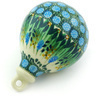 4-inch Stoneware Ornament Christmas Ball - Polmedia Polish Pottery H6753G