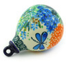 4-inch Stoneware Ornament Christmas Ball - Polmedia Polish Pottery H6760G