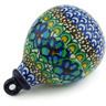 4-inch Stoneware Ornament Christmas Ball - Polmedia Polish Pottery H6761G
