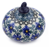 4-inch Stoneware Ornament Christmas Ball - Polmedia Polish Pottery H7542I