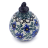 4-inch Stoneware Ornament Christmas Ball - Polmedia Polish Pottery H7547I