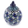 4-inch Stoneware Ornament Christmas Ball - Polmedia Polish Pottery H7552I
