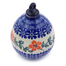 4-inch Stoneware Ornament Christmas Ball - Polmedia Polish Pottery H7553I