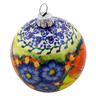 4-inch Stoneware Ornament Christmas Ball - Polmedia Polish Pottery H8193I