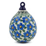 4-inch Stoneware Ornament Christmas Ball - Polmedia Polish Pottery H8298F