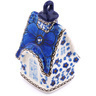 4-inch Stoneware Ornament House - Polmedia Polish Pottery H4112G