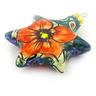 4-inch Stoneware Ornament Star - Polmedia Polish Pottery H5667F