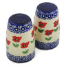 4-inch Stoneware Salt and Pepper Set - Polmedia Polish Pottery H2296K