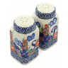 4-inch Stoneware Salt and Pepper Set - Polmedia Polish Pottery H4518J