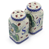 4-inch Stoneware Salt and Pepper Set - Polmedia Polish Pottery H4519J