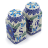 4-inch Stoneware Salt and Pepper Set - Polmedia Polish Pottery H4521J