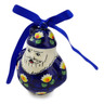 4-inch Stoneware Santa Clause Ornament - Polmedia Polish Pottery H2881K