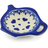 4-inch Stoneware Tea Bag or Lemon Plate - Polmedia Polish Pottery H4026J