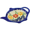 4-inch Stoneware Tea Bag or Lemon Plate - Polmedia Polish Pottery H4861F