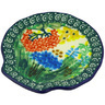 4-inch Stoneware Tea Bag or Lemon Plate - Polmedia Polish Pottery H5592G