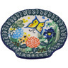 4-inch Stoneware Tea Bag or Lemon Plate - Polmedia Polish Pottery H6891G