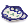 4-inch Stoneware Tea Bag or Lemon Plate - Polmedia Polish Pottery H8825E