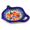 4-inch Stoneware Tea Bag or Lemon Plate - Polmedia Polish Pottery H8986I