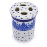 4-inch Stoneware Toothbrush Holder - Polmedia Polish Pottery H0755J