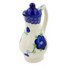4 oz Stoneware Pitcher with Lid - Polmedia Polish Pottery H0211K