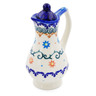 4 oz Stoneware Pitcher with Lid - Polmedia Polish Pottery H0261K