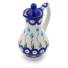 4 oz Stoneware Pitcher with Lid - Polmedia Polish Pottery H2932J