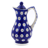 4 oz Stoneware Pitcher with Lid - Polmedia Polish Pottery H2933J