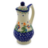 4 oz Stoneware Pitcher with Lid - Polmedia Polish Pottery H6484J