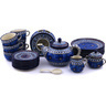 40 oz Stoneware Dessert Set for 6 with Heater - Polmedia Polish Pottery H6058G