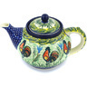 40 oz Stoneware Tea or Coffee Pot - Polmedia Polish Pottery H0045G