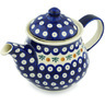 40 oz Stoneware Tea or Coffee Pot - Polmedia Polish Pottery H1378H