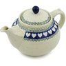 40 oz Stoneware Tea or Coffee Pot - Polmedia Polish Pottery H1741H