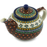 40 oz Stoneware Tea or Coffee Pot - Polmedia Polish Pottery H2195H