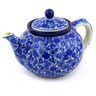 40 oz Stoneware Tea or Coffee Pot - Polmedia Polish Pottery H3732F
