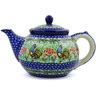 40 oz Stoneware Tea or Coffee Pot - Polmedia Polish Pottery H5692J