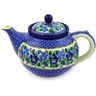 40 oz Stoneware Tea or Coffee Pot - Polmedia Polish Pottery H6257F
