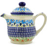 40 oz Stoneware Tea or Coffee Pot - Polmedia Polish Pottery H6377J