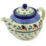 40 oz Stoneware Tea or Coffee Pot - Polmedia Polish Pottery H6977F