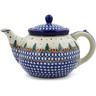 40 oz Stoneware Tea or Coffee Pot - Polmedia Polish Pottery H8397B