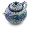 40 oz Stoneware Tea or Coffee Pot - Polmedia Polish Pottery H8721H