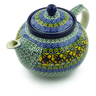 40 oz Stoneware Tea or Coffee Pot - Polmedia Polish Pottery H9569A