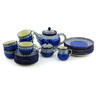 40 oz Stoneware Tea or Coffee Set for Six - Polmedia Polish Pottery H4940G