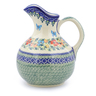 44 oz Stoneware Pitcher - Polmedia Polish Pottery H2586J