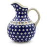 44 oz Stoneware Pitcher - Polmedia Polish Pottery H3151J