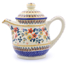 46 oz Stoneware Tea or Coffee Pot - Polmedia Polish Pottery H2311J