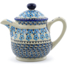 46 oz Stoneware Tea or Coffee Pot - Polmedia Polish Pottery H4240J