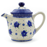 46 oz Stoneware Tea or Coffee Pot - Polmedia Polish Pottery H4534J