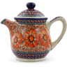 46 oz Stoneware Tea or Coffee Pot - Polmedia Polish Pottery H4536J