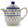 46 oz Stoneware Tea or Coffee Pot - Polmedia Polish Pottery H4554J